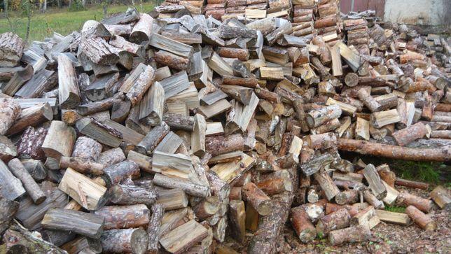 Opał drewno opałowe pocięte porąbane sosna
