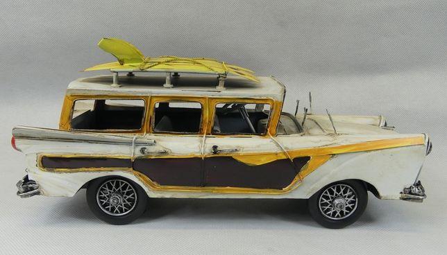 Metalowy model pojazd AUTO retro 34 cm