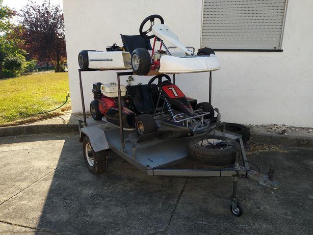 Karts + atrelado troca p/ mota ou carro classico