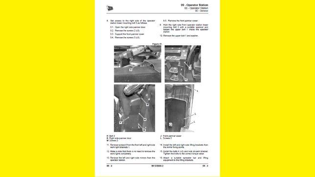JCB instrukcje napraw, SERWISOWE- komplet 390szt wszystkie modele