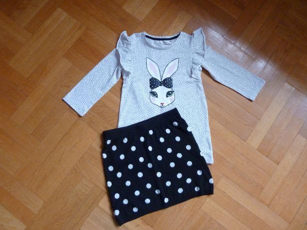 Komplet: spódnica H&M + bluzka KappAhl 122/128, OKAZJA