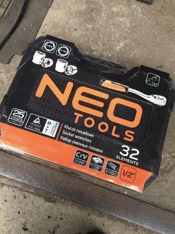 """Klucze nasadowe Neo Tools 32 szt. 1/2"""" CrV"""