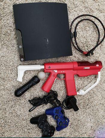 Playstation 3 slim 320gb прошитая (ps3), камера, мув