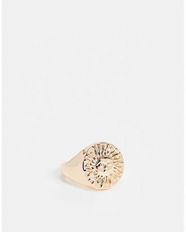 Кольцо золотое ASOS DESIGN солнце