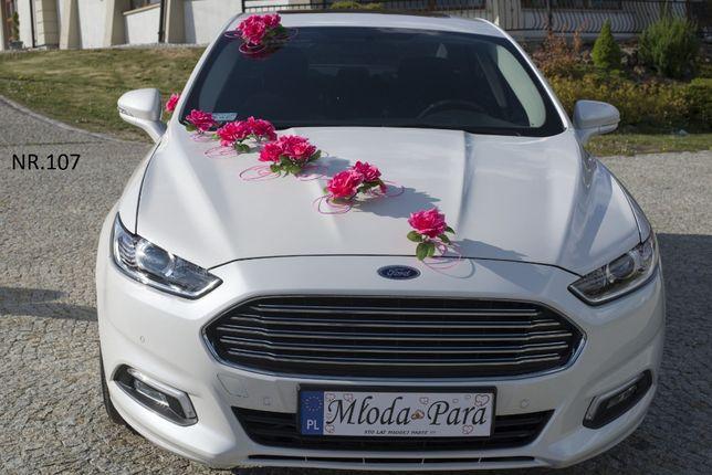 Dekoracja na samochód w kolorze różowym/malinowym/Ozdoba/stroik