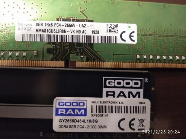 8gb DDR4 2666 goodram и sk hynix