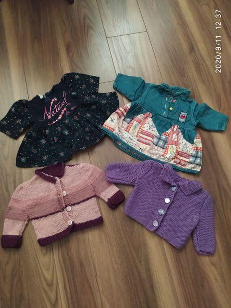 Пакет теплых вещей для девочки 0-3 месяца,платья, кофты