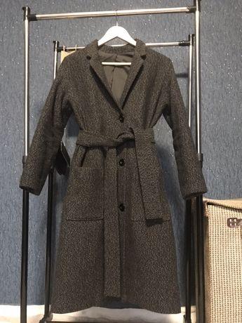 Пальто натуральная шерсть, утепленное (осень-зима)