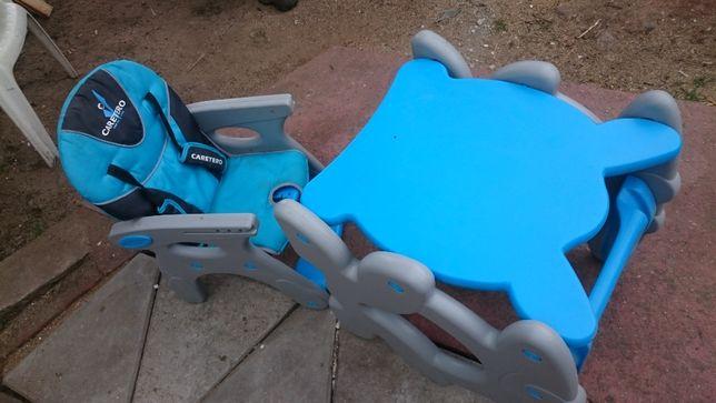 Krzesełko i stolik do karmienia Caretero stolik dziecięcy dla dziecka