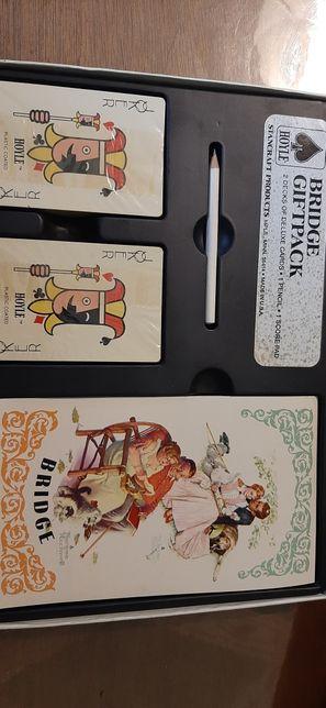 старый подарочный набор игральных карт для BRIDGE GIFTPACK 1950-60 год