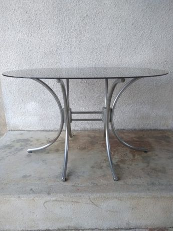 Mesa vidro oval vintage | retro | peça rara