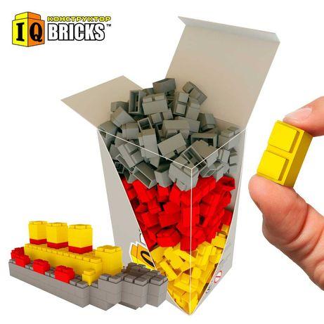 Кликай! Набор конструктора IQ Bricks ассорти 3 цвета 300шт.