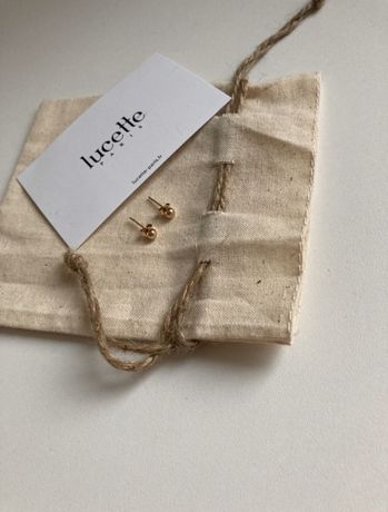 Kolczyki Lucette Paris pozłacane Vintage