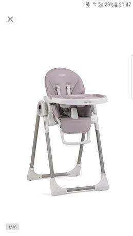 Ricokids belo szare krzeselko do karmienia