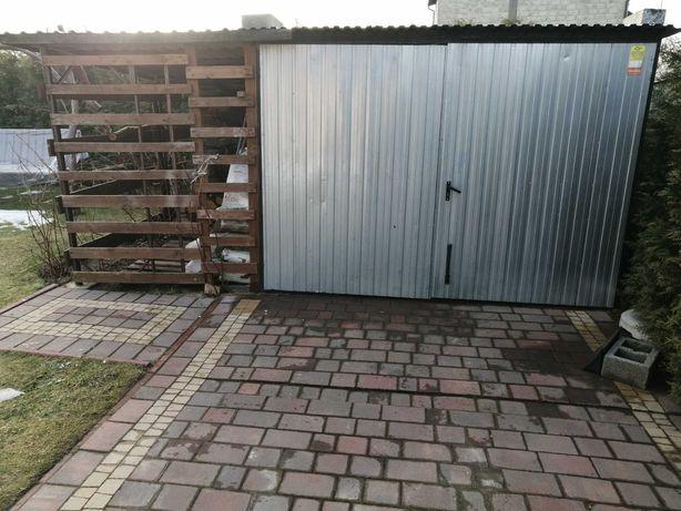 Duzy 5x5 Garaż blaszany blaszak wiata, drewno podwójny wzmacniany 3x5