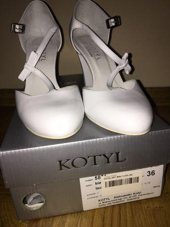 Półbuty buty KOTYL 5871 Biały Lico rozmiar 36