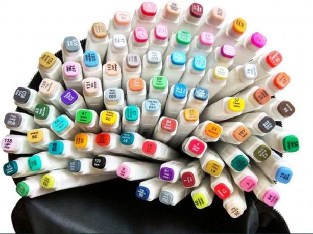 Набор двухсторонних спиртовых маркеров для рисования 80 штук