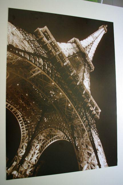 Wieża Eiffla DUŻY Plakat, zdjęcie, obraz 53 x 73 sepia