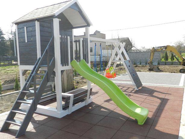Meble ogrodowe domek dla dzieci plac zabaw huśtawka ślizg wspinaczka