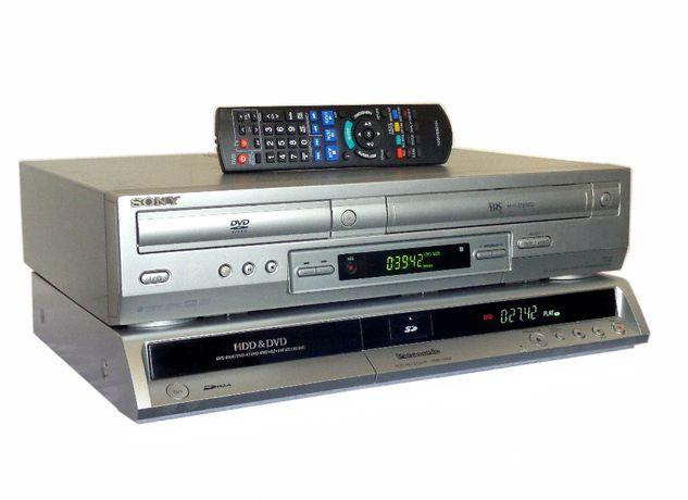 PANASONIC Nagrywarka DVD-HDD + SONY VCR ~ Przegraj VHS na DVD