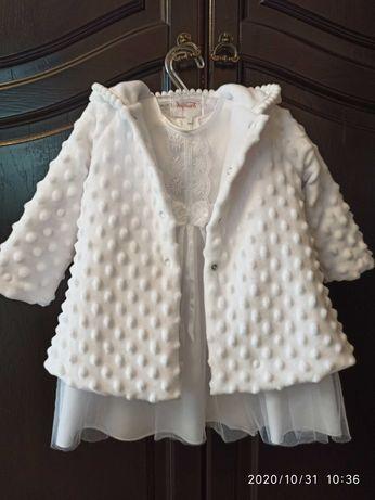 Sukienka, komplet, ubranko na chrzest r. 74