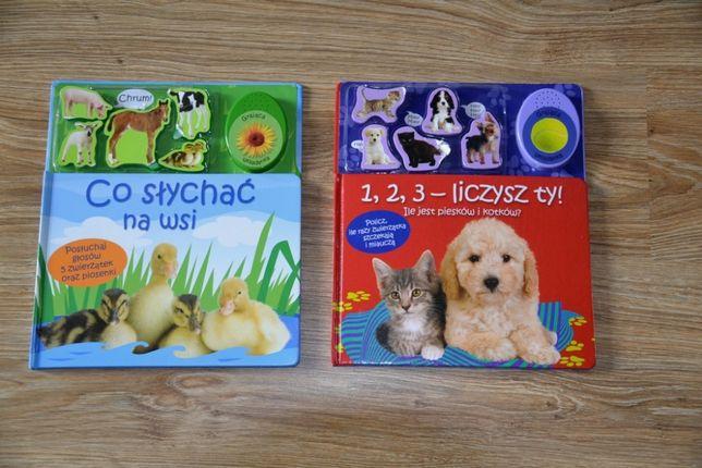 2 x książka dźwiękowa liczby i odgłosy zwierząt