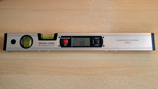 Nível de bolha digital com régua de 400 mm e ímanes de fixação