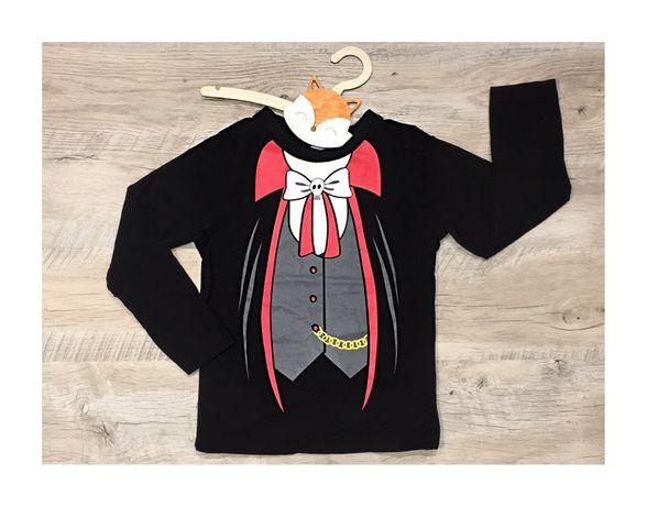 George bluzka z długim rękawem 104-110 czarna j nowa czerwona biała fr
