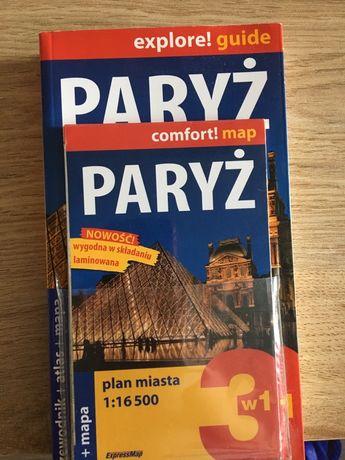 Paryż przewodnik plus mapa laminowana