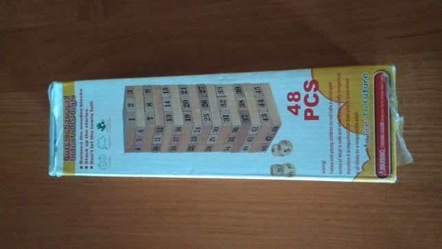 duża drewniana jenga 48 części