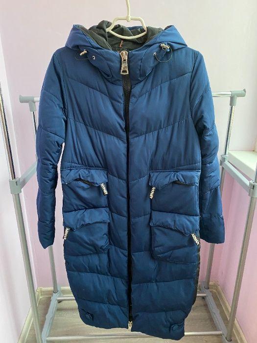 Куртка пуховик зимняя синяя S M размер Киев - изображение 1