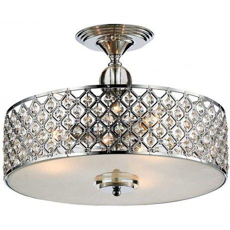 Lampa kryształowa do salonu sypialni plafon kryształowy GLAMOUR HIT