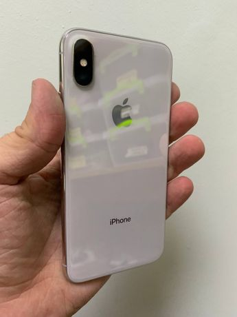 iPhone X 64gb silver neverlock (Хорошое состояние)