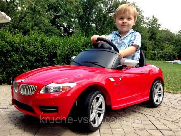 Детский электромобиль M 3175, BMW, колеса EVA, кожаное сиденье