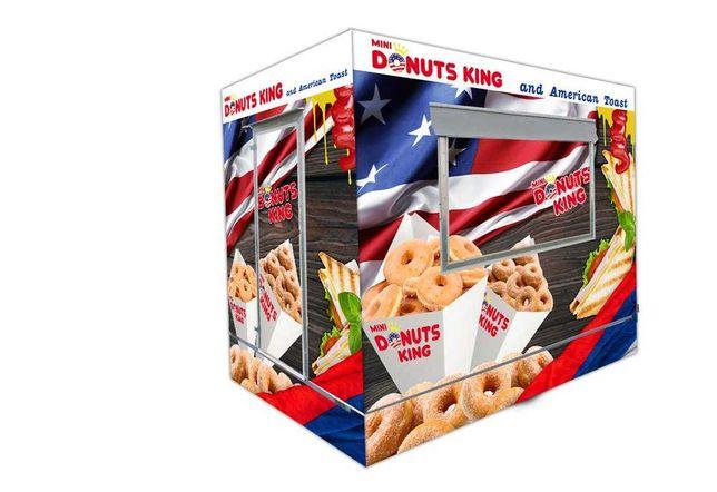 Przyczepa gastronomiczna Mini Donuts King - Twój biznes