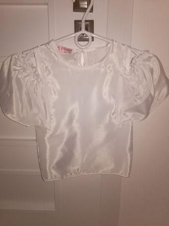 Bluzka elegancka biała 98-104