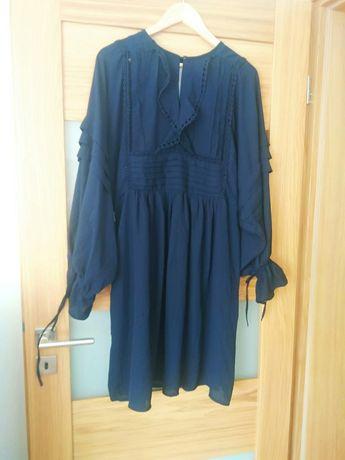 Granatowa sukienka oversize YAS