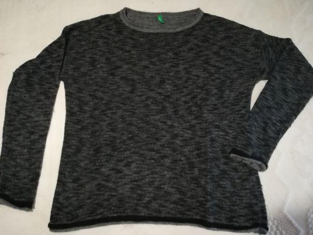 Camisola cinza escura Benetton