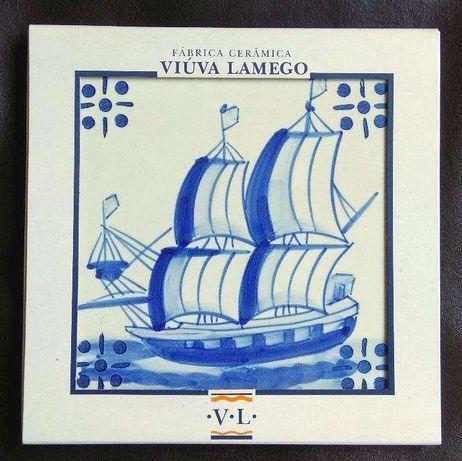 Azulejo Viúva Lamego - novo em caixa original Hand Painted Tile VL