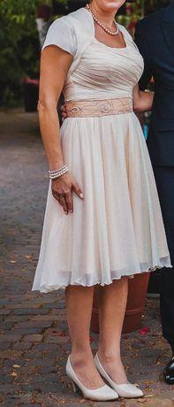 Sukienka 38 morelowa na wesele