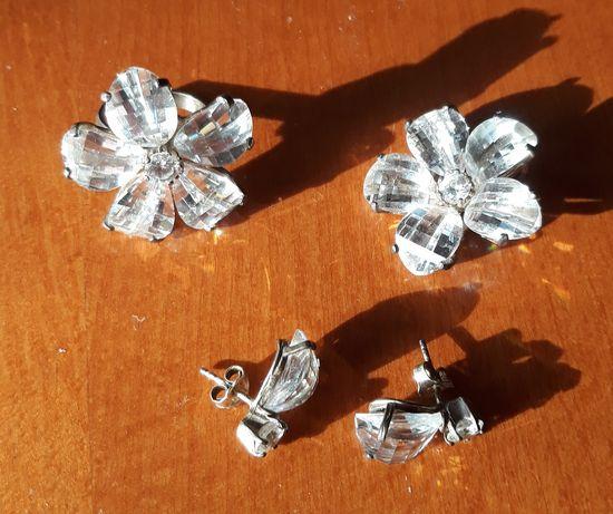 Komplet  biżuterii srebrnej, 4 elementy