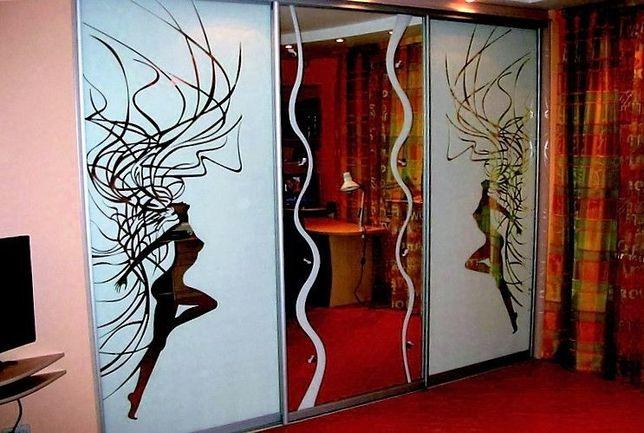 Пескоструйная художественная обработка и покраска стекла.