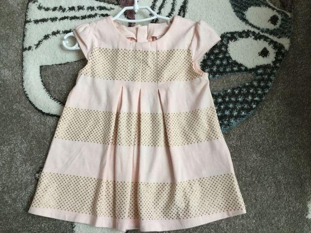 Komplet sukienka + getry rozm 80