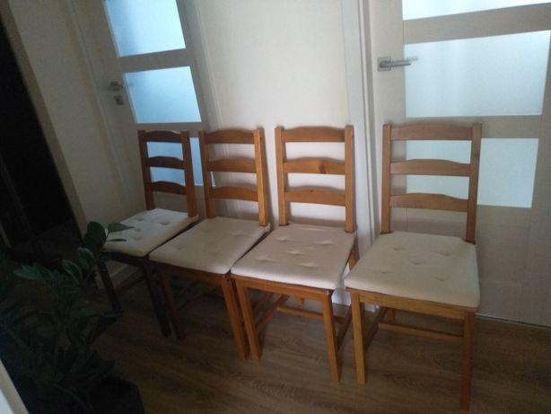 Krzesła drewniane IKEA 4 sztuki