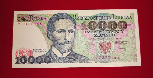 Banknot 10.000 zł 1987 Wyspiański seria M UNC 10000 NBP PRL