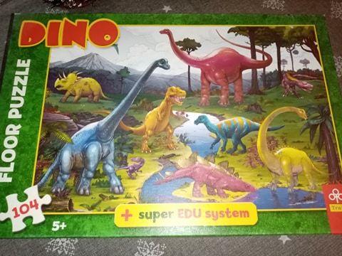 PUZZLE podłogowe Dinozaury 5+