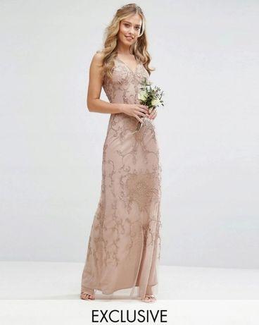 cekinowa sukienka tiulowa ze zdobieniami MAYA 44 na wesele karnawał
