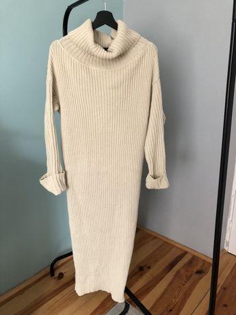 Długi sweter, sukienka, rozmiar uni