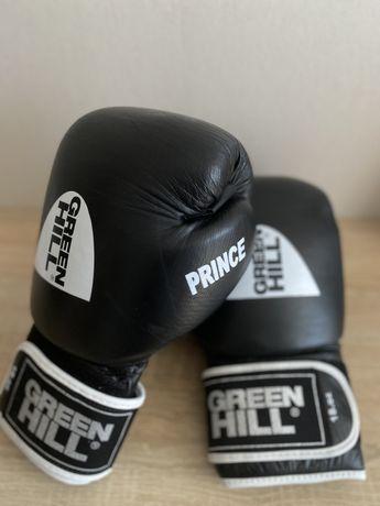 Боксерские перчатки новые Prince Green Hill 18 унций