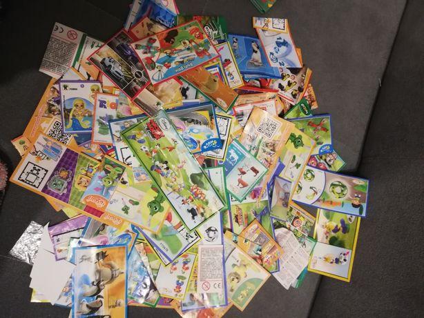 Karteczki kinder niespodzianka ponad 170sztuk